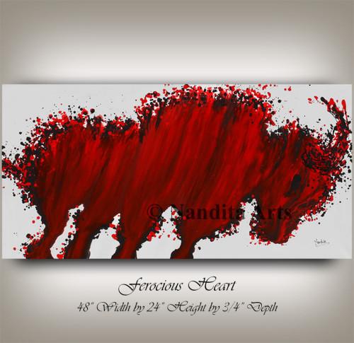 Bull Painting, Animal Painting by Nandita Albright