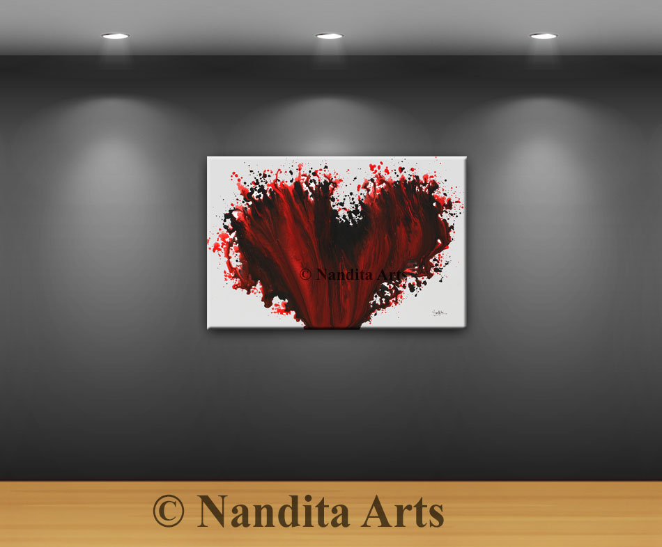 Red Heart painting, Red Heart Artwork