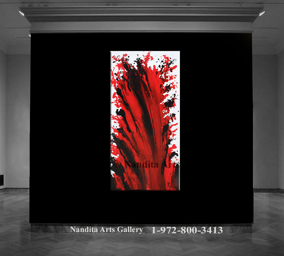 Red, Red Artwork, Red Abstract Painting