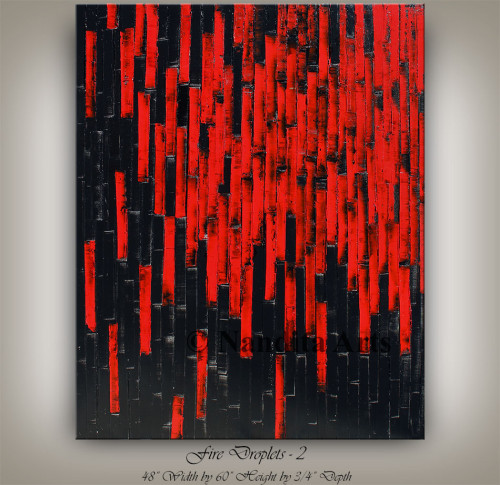 Red, red painting, red artwork, red home decor