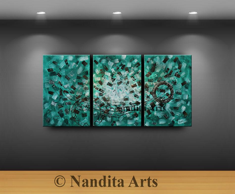 Turquoise Modern Art