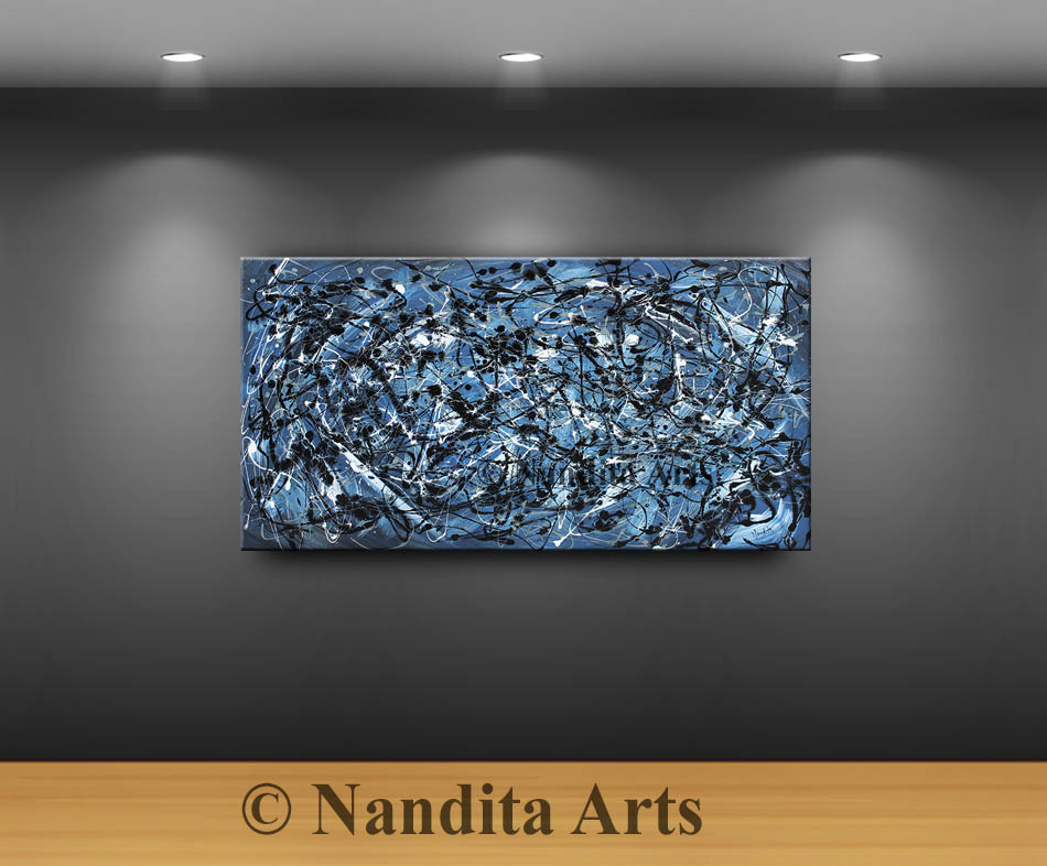 Blue, Blue Artwork, Blue Abstract Art