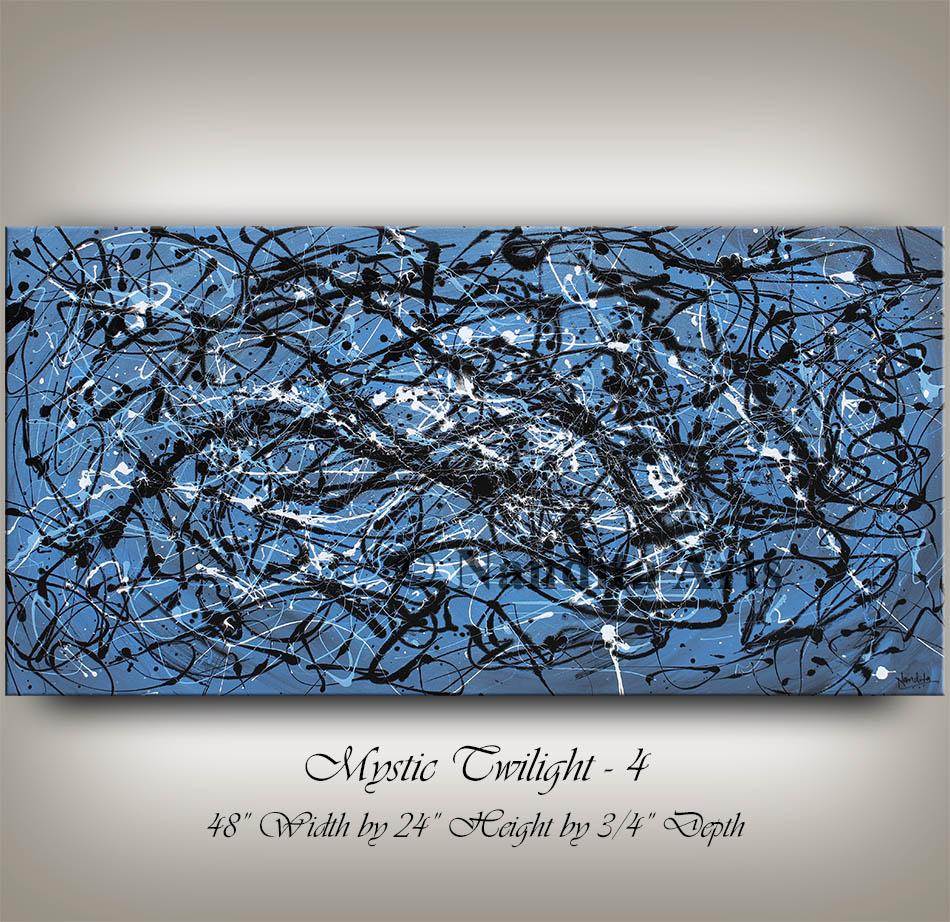 Blue, Blue Art, Blue Wall Art, Blur modern art