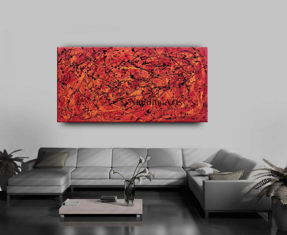 Red,Red Art, Red Painting, large red wall art