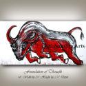 bull, bull art, bull new york stock