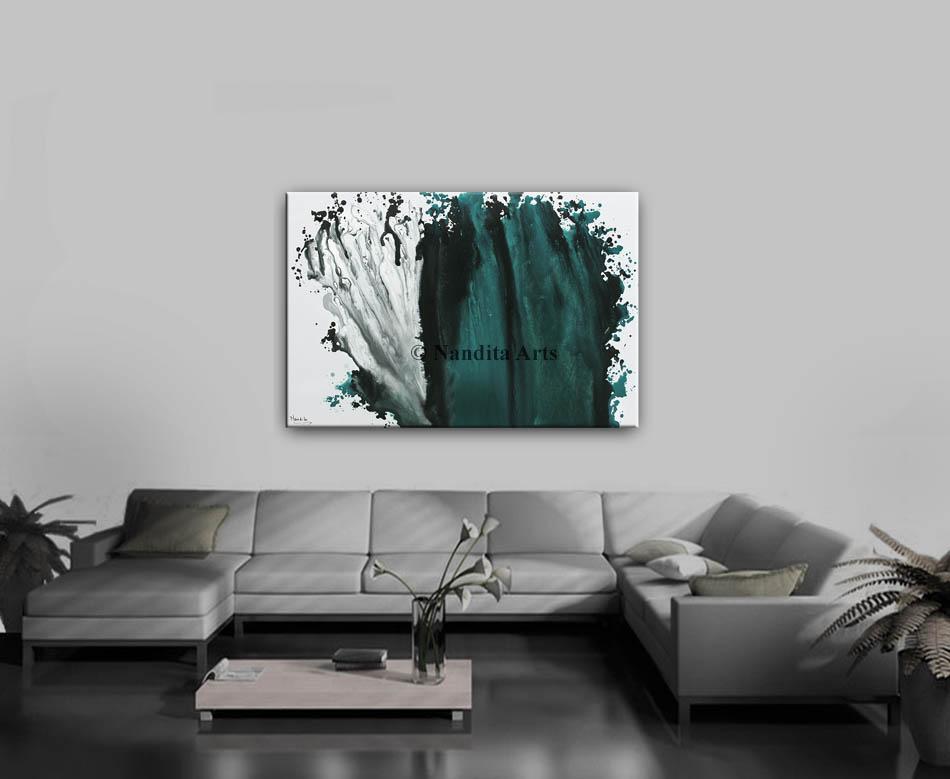 Turquoise wall art decor