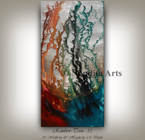 Red and Turquoise Original Art by Albright