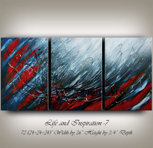 Red and Blue Abstract Art