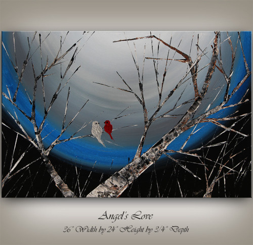Landscape, Bird art, tree art by Nandita Albright