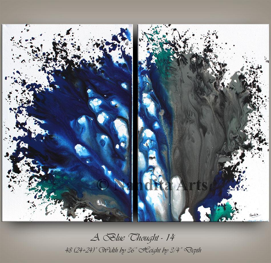 Modern Art blue painting