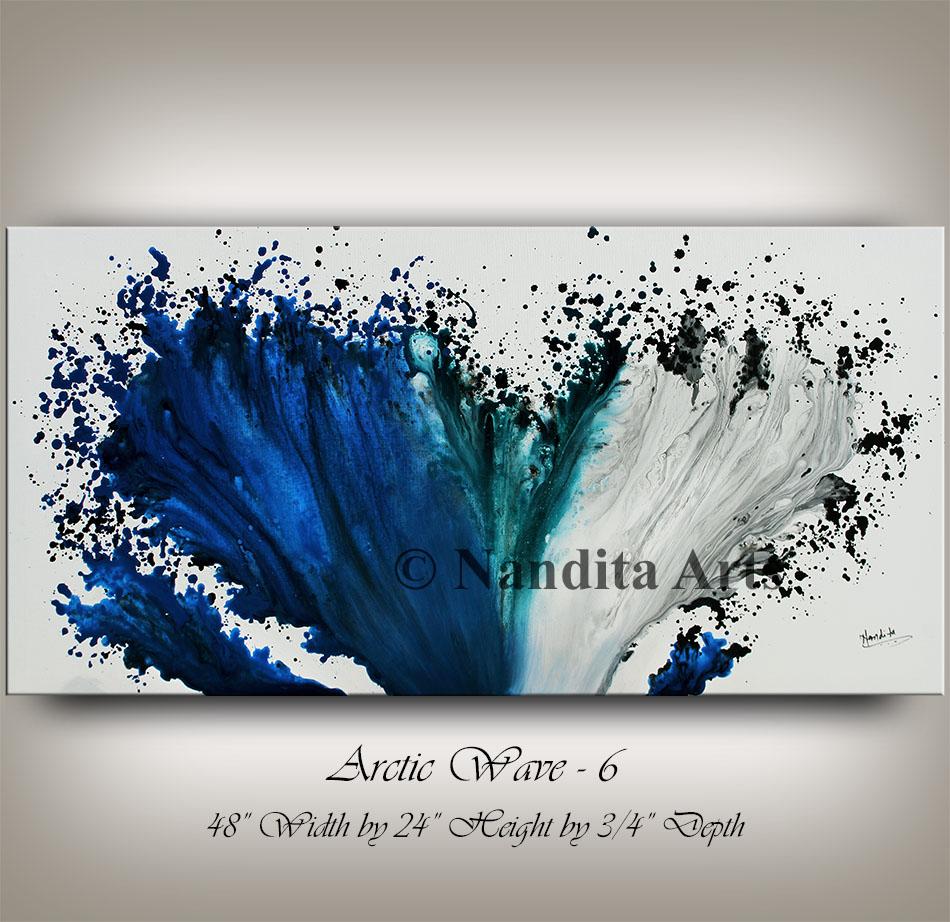 Blue Art, Blue Painting Original Artwork by Nandita Albrght