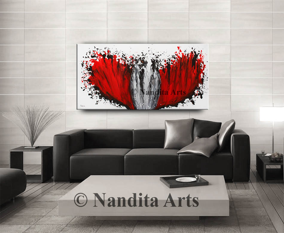 Red, Red Artwork, Red Painting