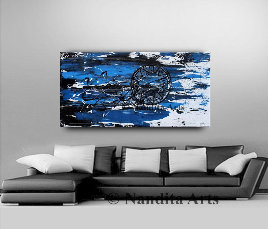 Blue, Blue Modern Art, Blue Artwork, Original Painting
