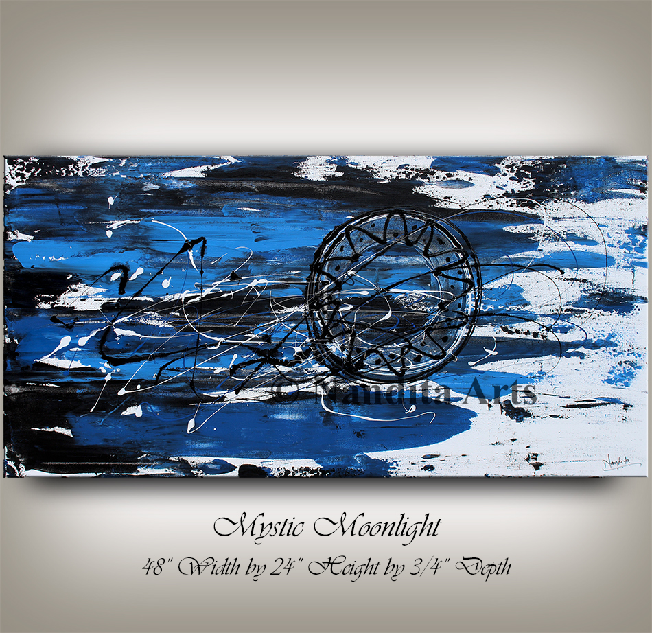Blue, Blue Modern Art, Blue Artwork, Original Painting