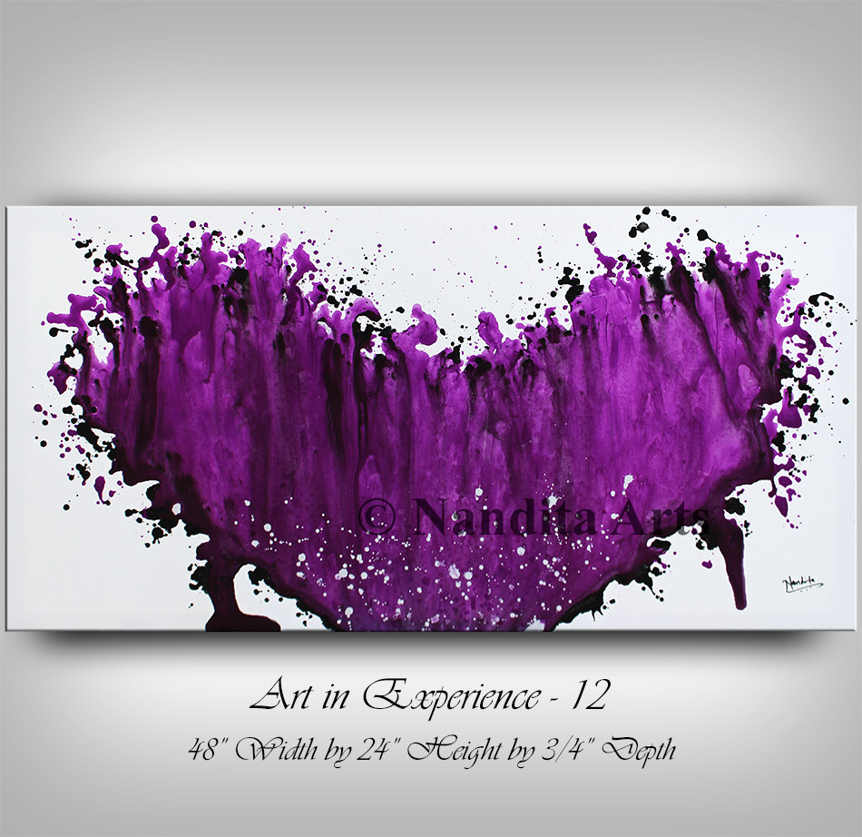 Purple Modern Painting