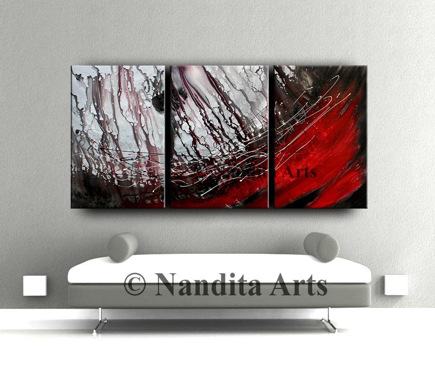 Red, Red Artwork, Original Art