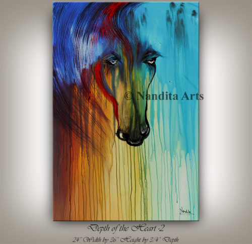 Abstract Horse Art by Nandita Albright