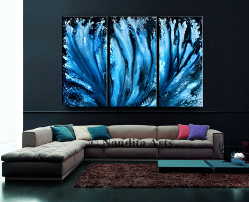 Blue Artwork by Nandita Albright