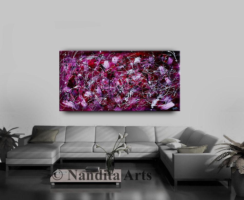 Infinite, Fuchsia, Purple, Abstract Painting