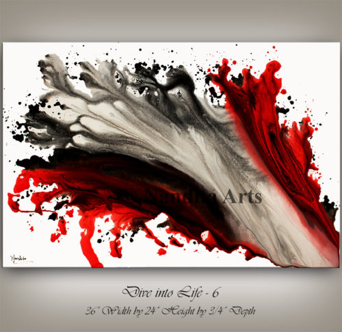 Red, Red Artwork, Red Painting, Red modern art