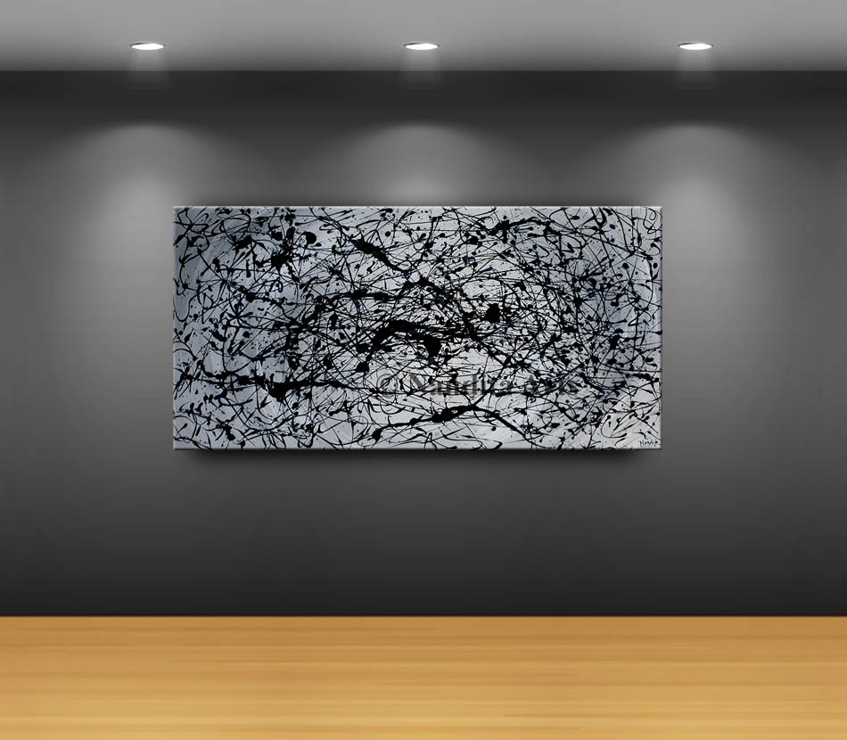 Abstract Painting, jackson pollock style, modern art