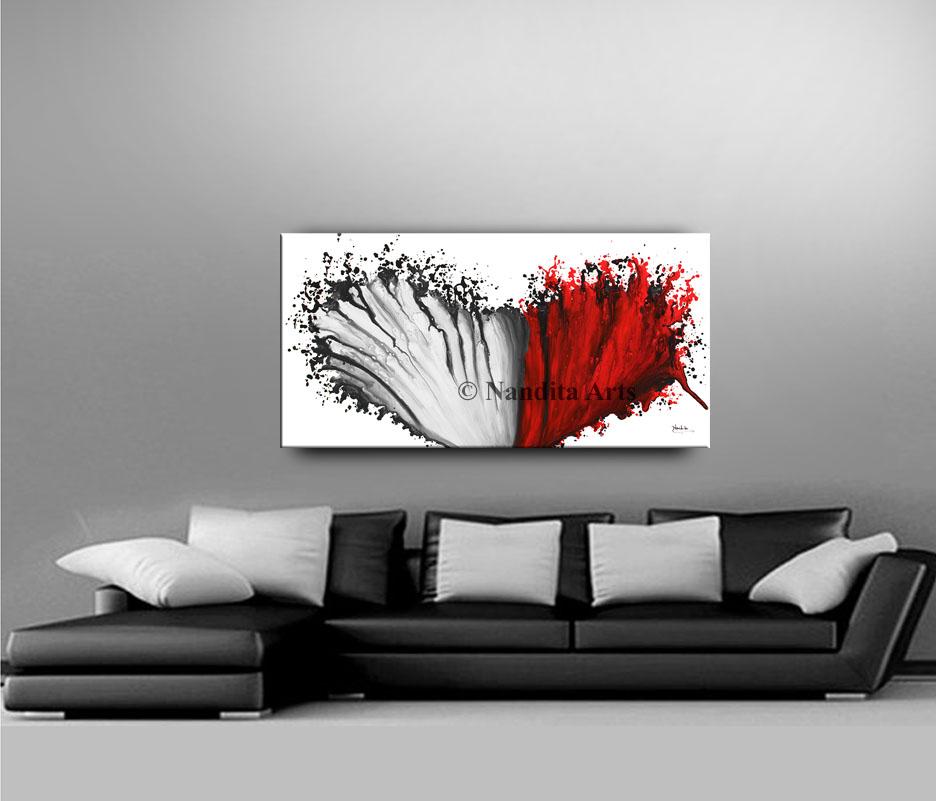 Red Modern Art Gallery by Nandita Albright