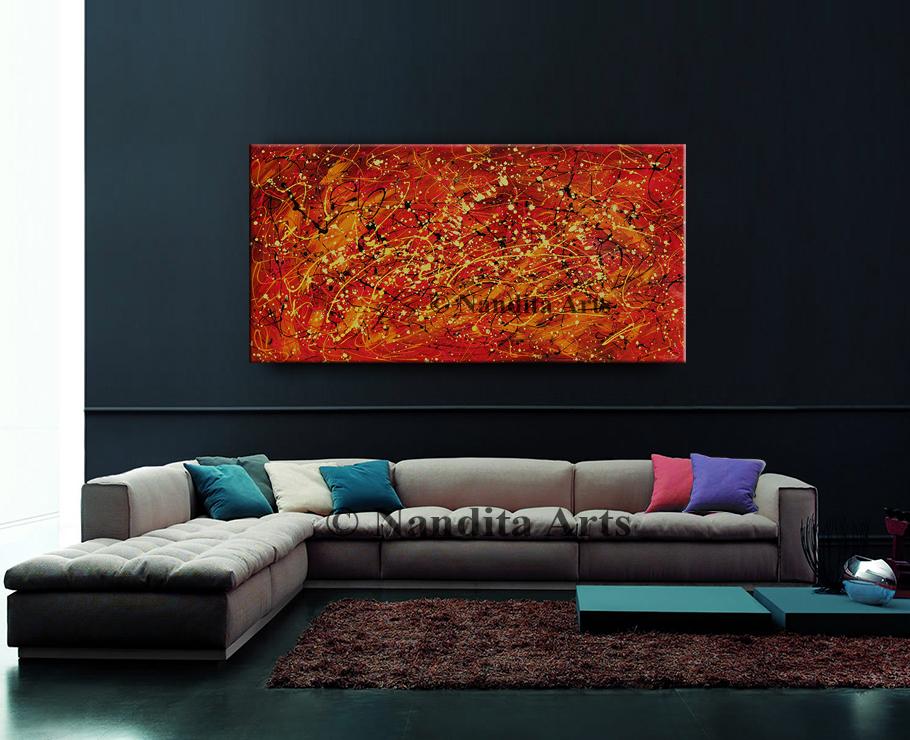 Red Jackson Pollock Style