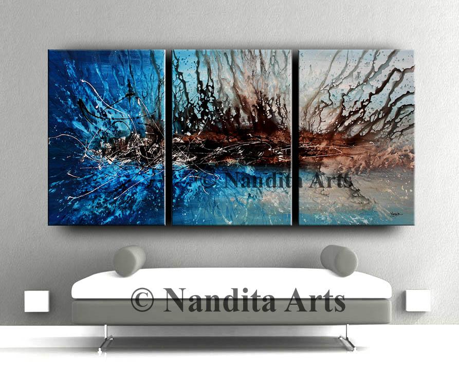 Blue Modern Art by Nandita Albright