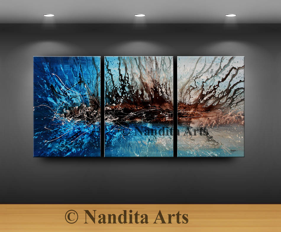 Blue Modern Art by Nandita Albright