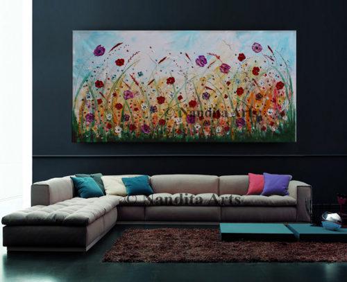 Landscape Floral Painting