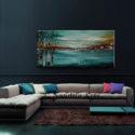 Turquoise Landscape Painting