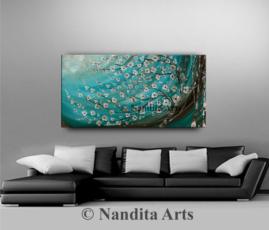 Flower Painting by Nandita Albright