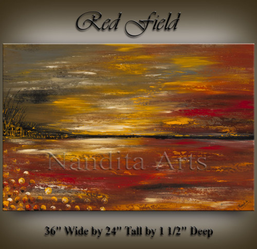 Abstract Art Red Field
