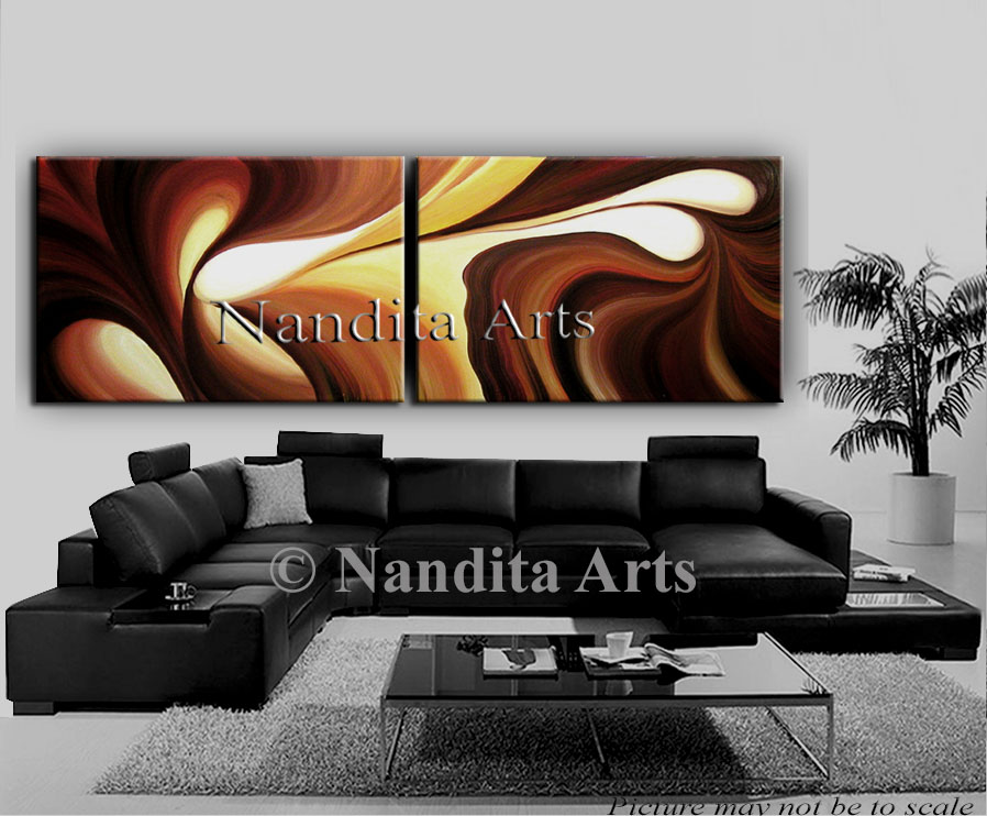 Original Oil Paintings, Abstract Oil Painting on canvas, chocolate blend