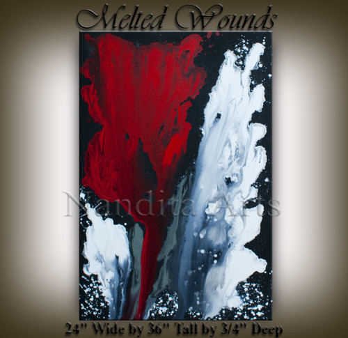 Red and White modern art / modern paintings