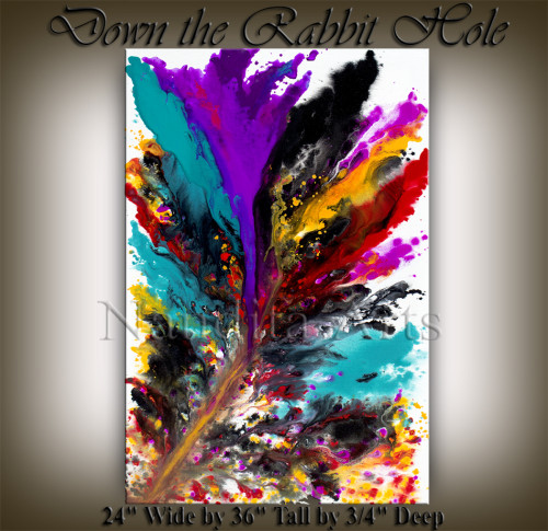 Abstract Painting Down the Rabbit Hole Abstract Art