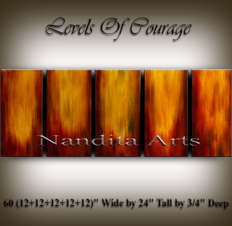 Levels Of Courage   Abstract Art   Paintings by Nandita Albright