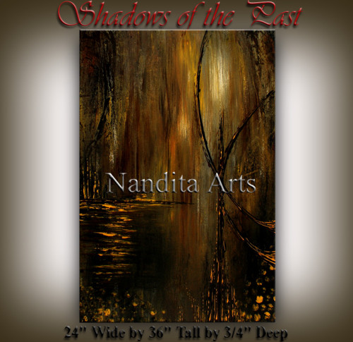 Shadows of the Past Abstract Art by Nandita Albright