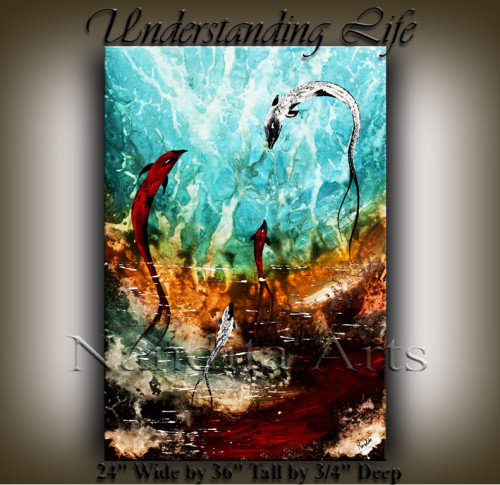 Understanding Life SEASCAPE MODERN ART COI FISH BY NANDITA ALBRIGHT