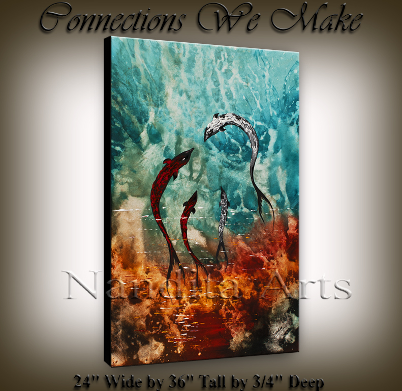 Connections We Make Seascape painting original art by Nandita Albright