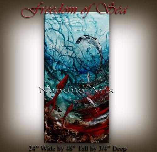 Seascape art Freedom of Sea by Nandita Albright