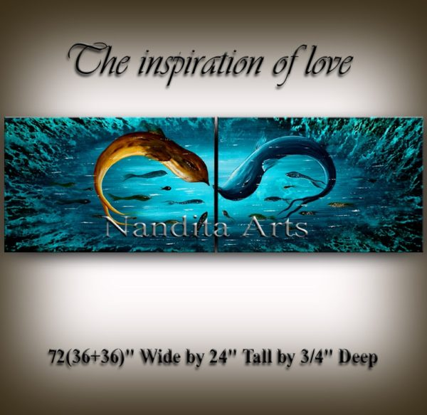 wall art The Inspiration of Love seascape art by Nandita Albright