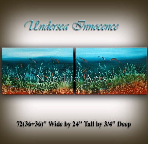 Undersea Innocence Seascape artwork by Nandita Albright