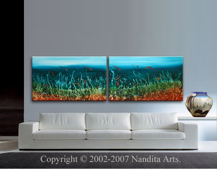 Undersea Innocence Seascape artwork by Nandita Albright