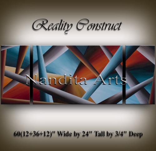 Modern Art Realty Construct Geometrical Art by Nandita Albright