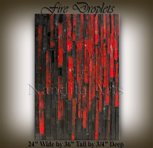 RED HEAVY MODERN ART BY NANDITA ALBRIGHT