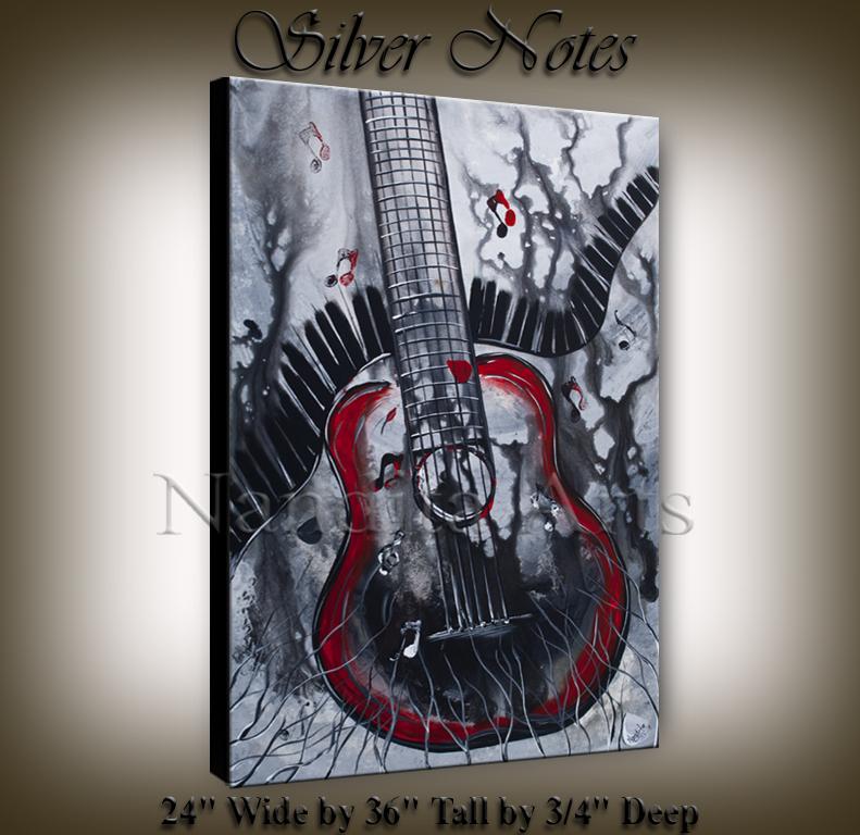 modern guitar art, music art for sale, contemporary guitar art