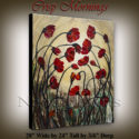 flower art, contemporary flower art and flower paintings