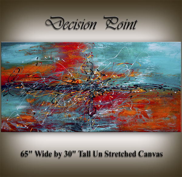 Large painting, large abstract art