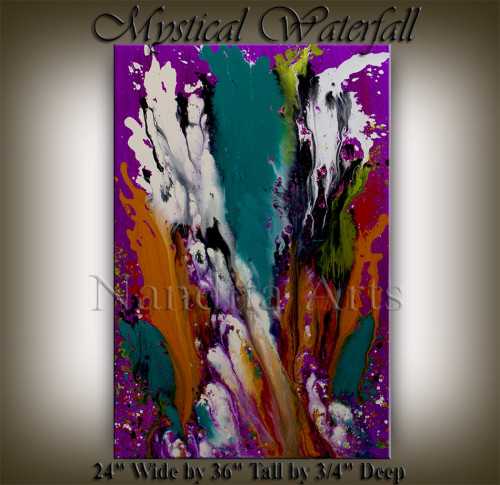 Modern Painting Mystical Waterfall Modern Paintings